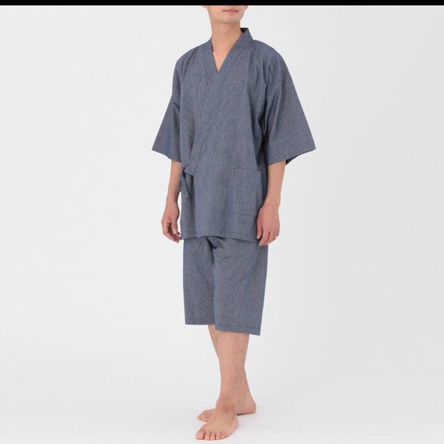 MUJI (無印良品)(ムジルシリョウヒン)の無印良品 オーガニックコットン 甚平 メンズの水着/浴衣(その他)の商品写真