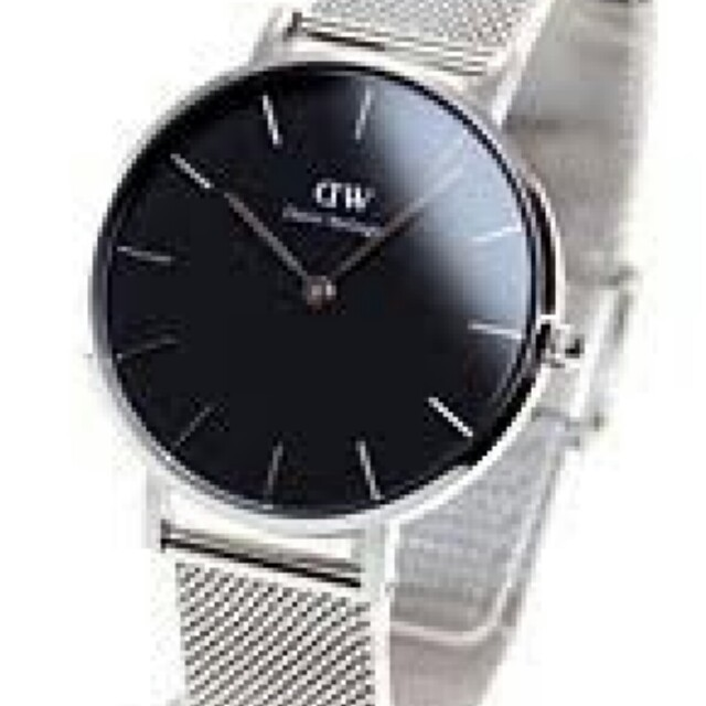 Daniel Wellington(ダニエルウェリントン)の【人気腕時計❤シンプルさが◎】ダニエルウェリントン シルバー ×ブラック レディースのファッション小物(腕時計)の商品写真