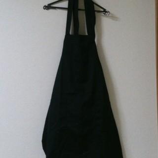 ムジルシリョウヒン(MUJI (無印良品))の黒エプロンとネネットマキシワンピ(その他)