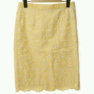 デミルクスビームス(Demi-Luxe BEAMS)のDemi-Luxe BEAMS花柄タイトスカート(ひざ丈スカート)