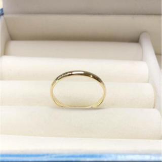 . k18  新品 17号 男女兼用  お揃いリングにも 安心の日本製(リング(指輪))