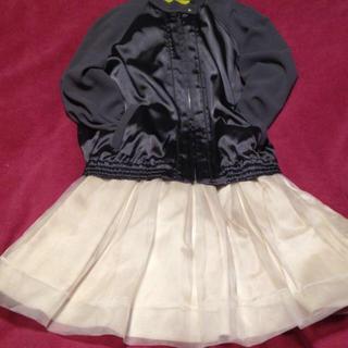 マーキュリーデュオ(MERCURYDUO)のシルクのオーガンジーのスカート(ミニスカート)