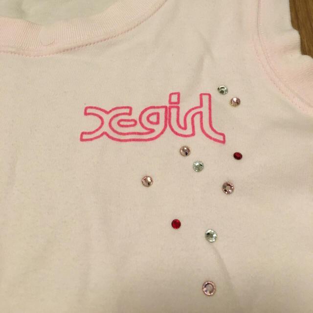 X-girl(エックスガール)のX-girl ピンク タンクトップ レディースのトップス(タンクトップ)の商品写真