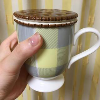 フランフラン(Francfranc)のビスケットの蓋付のマグカップ(マグカップ)