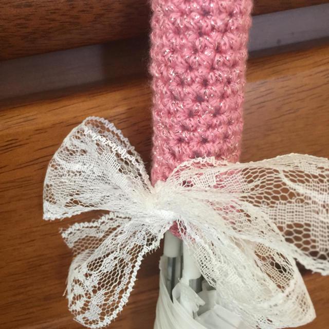 傘の柄グリップカバー ハンドメイドのファッション小物(その他)の商品写真