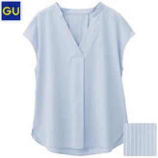 ジーユー(GU)のGU スキッパーシャツ ストライプ(シャツ/ブラウス(半袖/袖なし))