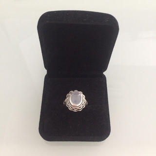アンティーク ヴィンテージ リング   玉髄    天然石 レトロ 指輪(リング(指輪))