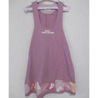 ピンクハウス(PINK HOUSE)のBABYPINK HOUSE コットンデニムジャンバースカート (ワンピース)