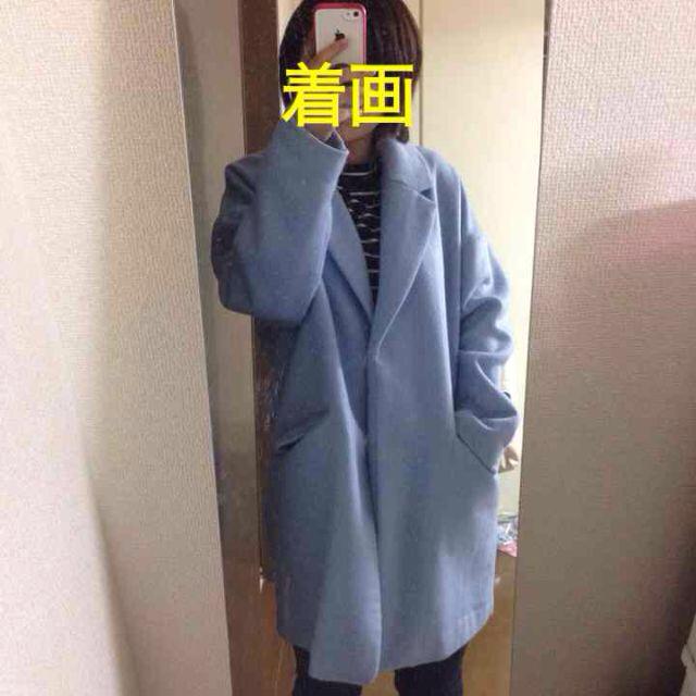JEANASIS(ジーナシス)のJEANASiS アイスブルーコート レディースのジャケット/アウター(ロングコート)の商品写真