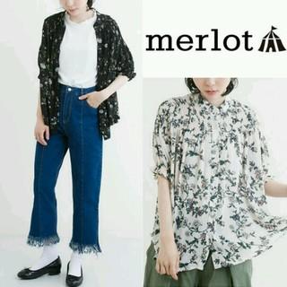 メルロー(merlot)の今季新作♡メルロー ボタニカル ブラウス ピンク(シャツ/ブラウス(半袖/袖なし))