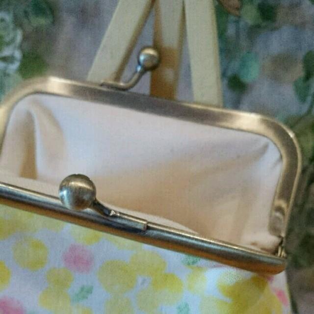がま口財布(ぷっくりWガーゼ☆ミモザ柄・イエロー♥) ハンドメイドのファッション小物(財布)の商品写真
