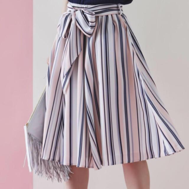 tocco(トッコ)の新品タグ付☆大人気完売品 ストライプスカート レディースのスカート(ひざ丈スカート)の商品写真