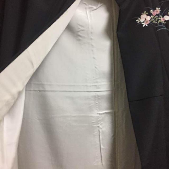 黒 付け下げ 訪問着調 レディースの水着/浴衣(着物)の商品写真