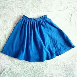 プニュズ(PUNYUS)のプニュズ スウェットスカート ブルー サイズ3 中古  (ひざ丈スカート)