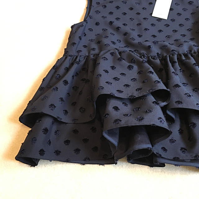 yori  ドットノースリーブブラウス☆ レディースのトップス(シャツ/ブラウス(半袖/袖なし))の商品写真