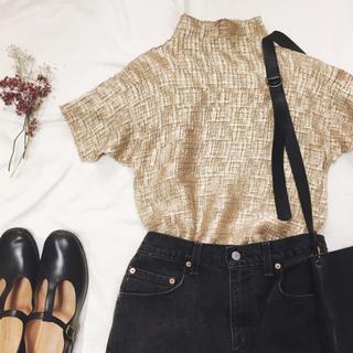 グリモワール(Grimoire)の形状記憶 凹凸 ゴールドトップス(Tシャツ(半袖/袖なし))