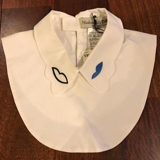 エディットフォールル(EDIT.FOR LULU)の新品タグ付きmademoiselle TARAリップ刺繍付け襟♡マドモアゼルタラ(つけ襟)