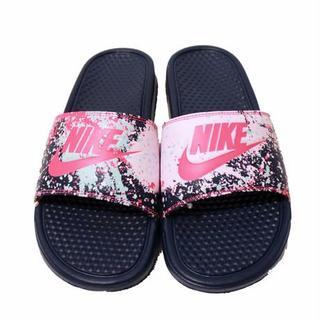 ナイキ(NIKE)の❗️ラスト❗️ Nike ベナッシ サンダル ピンク ネイビー 26cm ナイキ(サンダル)