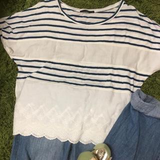 カスタネ(Kastane)のカスタネビックサイズボーダーTシャツ(Tシャツ(半袖/袖なし))
