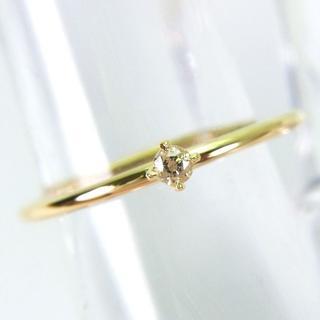 新品☆K18イエローゴールド ダイヤモンド リング 9号[750-5] (リング(指輪))