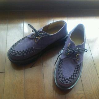 ●パープル ラバーソール●(ローファー/革靴)