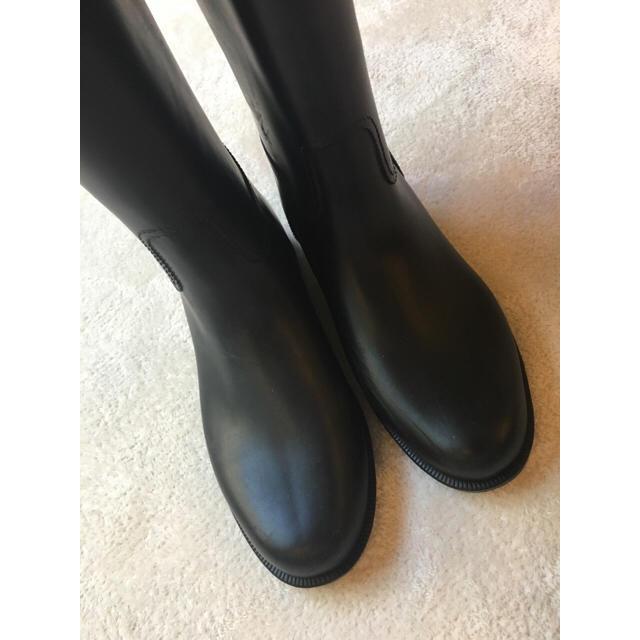 MUJI (無印良品)(ムジルシリョウヒン)の無印 レインブーツ 黒 ブラック M レディースの靴/シューズ(レインブーツ/長靴)の商品写真