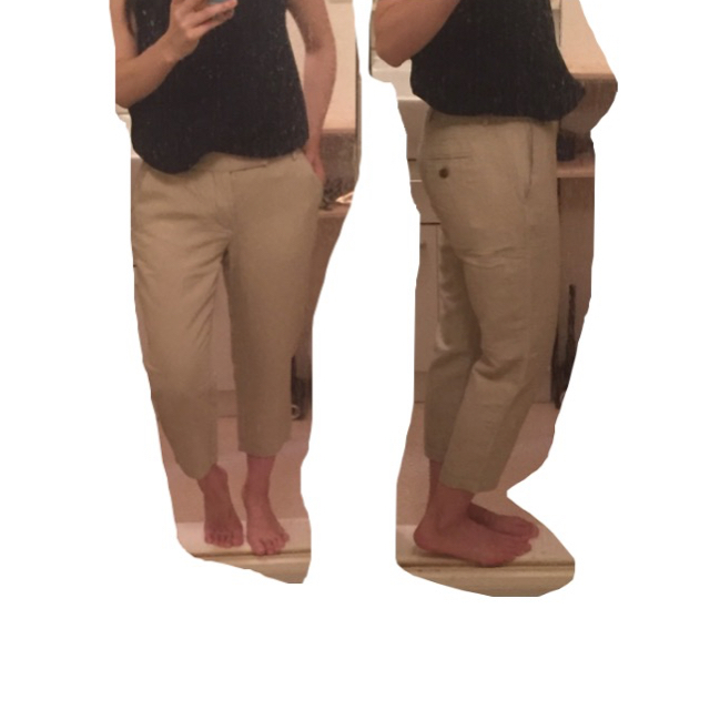 SHEINAR(シェイナー)のSHEINAR Sサイズ 麻混じり ベージュ レディースのパンツ(クロップドパンツ)の商品写真