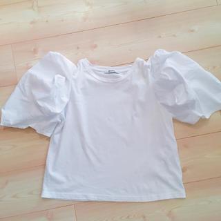 ザラ(ZARA)の完売品 ZARA パフスリーブ Tシャツ(Tシャツ(半袖/袖なし))