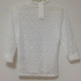 ジーユー(GU)の新品未使用 GU ハイネックTレース S(Tシャツ(長袖/七分))