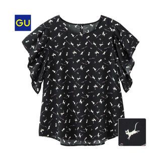 ジーユー(GU)のGU * プリント ブラウス セーラームーン アルテミス(シャツ/ブラウス(半袖/袖なし))