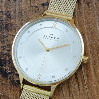 スカーゲン(SKAGEN)の新品 SKAGEN レディース 腕時計 ゴールド SKW2150 薄い 軽量(腕時計)