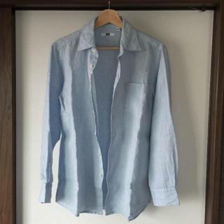 ユニクロ(UNIQLO)の室内試着のみの美品【ユニクロ】Sサイズ リネンシャツ 長袖(シャツ)