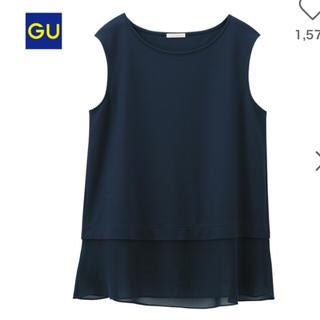 ジーユー(GU)のレイヤードTシャツ ノースリーブ GU(シャツ/ブラウス(半袖/袖なし))