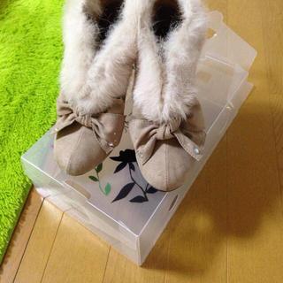 ファー付きブーティ(ブーツ)