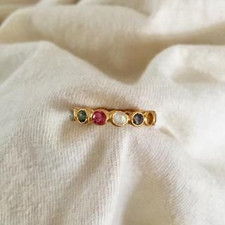 トゥモローランド(TOMORROWLAND)のインド ジャイプール マルチカラー フルエタニティリング(リング(指輪))
