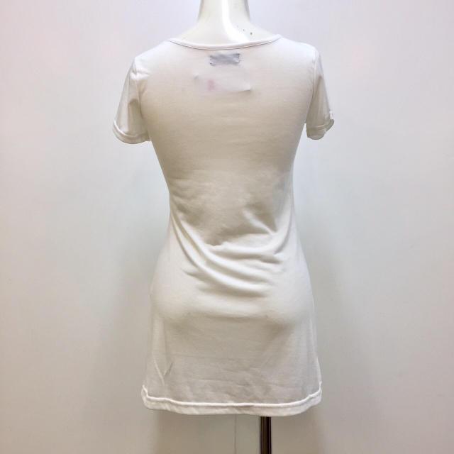 新品タグ付☆Aライン☆ロングTシャツ〜242585−ホワイトS レディースのトップス(Tシャツ(半袖/袖なし))の商品写真