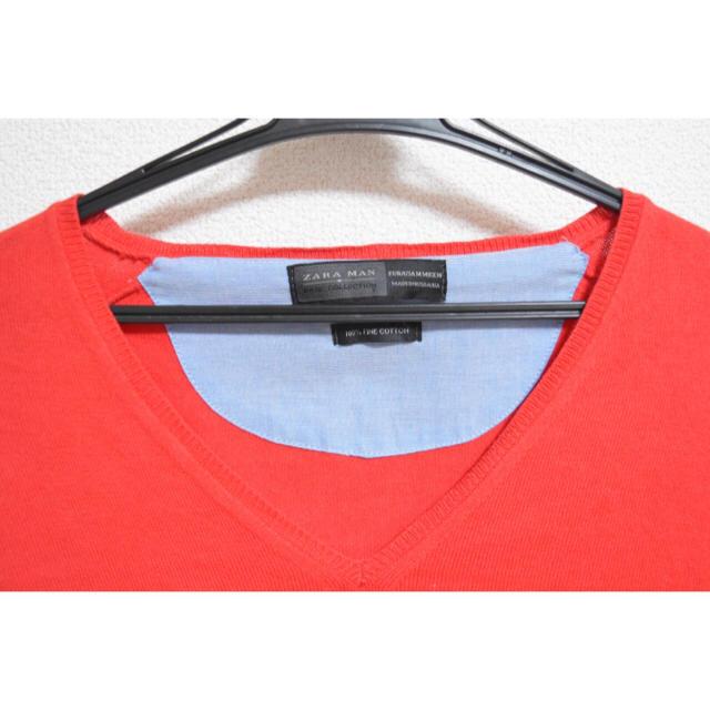 ZARA(ザラ)の[ZARA MAN]  春・秋 赤セーター メンズのトップス(ニット/セーター)の商品写真
