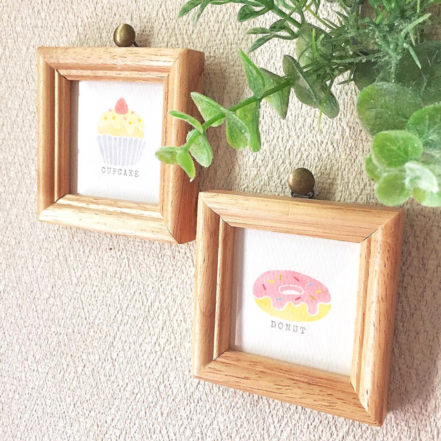 選べる♪手書き風スイーツのフレーム ハンドメイドのインテリア/家具(インテリア雑貨)の商品写真