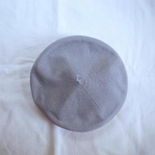 ニコアンド(niko and...)の春夏用 ベレー帽 グレー(ハンチング/ベレー帽)