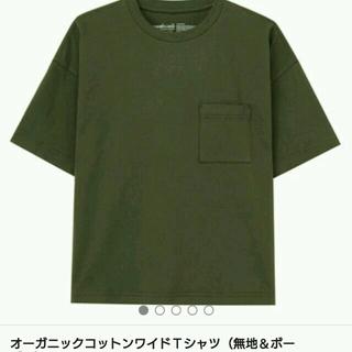 ムジルシリョウヒン(MUJI (無印良品))の無印良品 無地T × UNIQLO プリーツスカート(Tシャツ(半袖/袖なし))