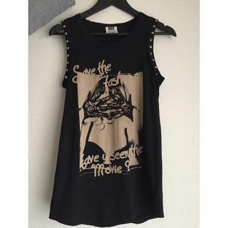 スライ(SLY)のSLY ノースリーブTシャツ 黒(Tシャツ(半袖/袖なし))