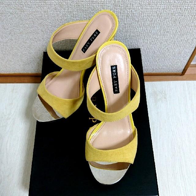 【送料込】美品♡EVOL スパイクヒール ストラップ サンダル S イエロー レディースの靴/シューズ(サンダル)の商品写真