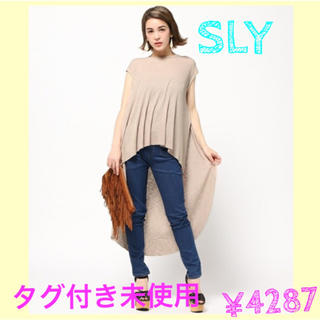 スライ(SLY)の¥4287🎀値下げ🎀バックロングトップス(Tシャツ(半袖/袖なし))