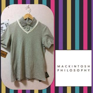 マッキントッシュフィロソフィー(MACKINTOSH PHILOSOPHY)のマッキントッシュ フェイクレイヤード Vネックシャツ(シャツ)