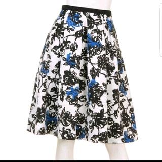 ジャスグリッティー(JUSGLITTY)のJUSGLITTY 単色プリントスカート(ひざ丈スカート)