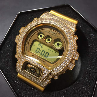 ジーショック(G-SHOCK)のdw6900gdカスタムg-shockアバランチavalancheアイスリンク(腕時計(デジタル))