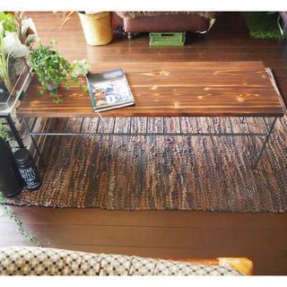 アイアン家具  テーブル  スチールウッド家具  鉄家具  アンティークテーブル(ローテーブル)