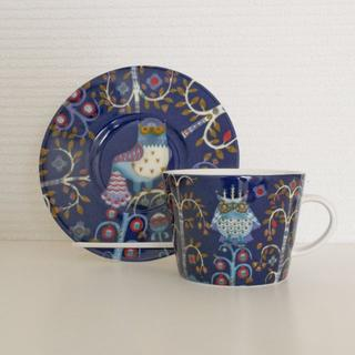 イッタラ(iittala)のイッタラ(iittala) タイカ ブルー コーヒーカップ&ソーサー(グラス/カップ)