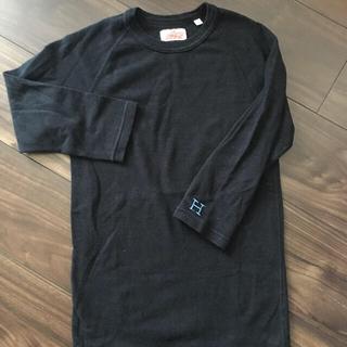 ハリウッドランチマーケット(HOLLYWOOD RANCH MARKET)のハリウッドランチマーケット✨  7分袖Tシャツ 黒 サイズ0(Tシャツ(長袖/七分))