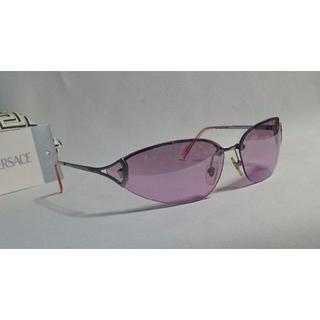 ジャンニヴェルサーチ(Gianni Versace)の正規美品 ヴェルサーチ メデューサロゴメタルフレームサングラス ピンク×クローム(サングラス/メガネ)